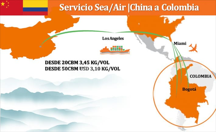 Servicio Sea/Air | China a  Colombia